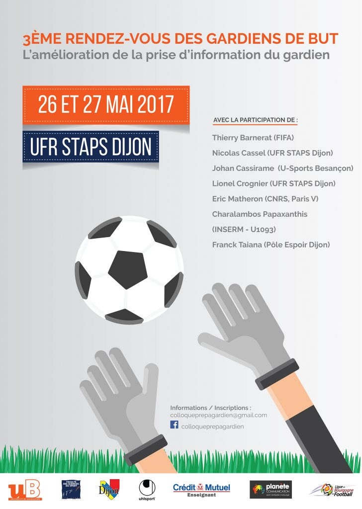 Affiche 3ème Colloque Gardien de But Dijon 2017